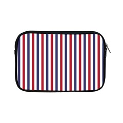 USA Flag Red White and Flag Blue Wide Stripes Apple iPad Mini Zipper Cases