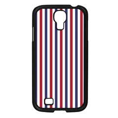 USA Flag Red White and Flag Blue Wide Stripes Samsung Galaxy S4 I9500/ I9505 Case (Black)