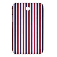USA Flag Red White and Flag Blue Wide Stripes Samsung Galaxy Tab 3 (7 ) P3200 Hardshell Case