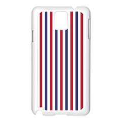 USA Flag Red White and Flag Blue Wide Stripes Samsung Galaxy Note 3 N9005 Case (White)