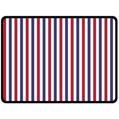 USA Flag Red White and Flag Blue Wide Stripes Double Sided Fleece Blanket (Large)