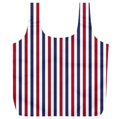 USA Flag Red White and Flag Blue Wide Stripes Full Print Recycle Bags (L)