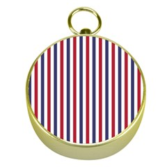 USA Flag Red White and Flag Blue Wide Stripes Gold Compasses