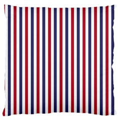 USA Flag Red White and Flag Blue Wide Stripes Large Flano Cushion Case (One Side)