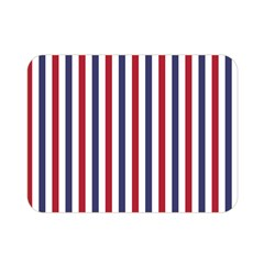USA Flag Red White and Flag Blue Wide Stripes Double Sided Flano Blanket (Mini)