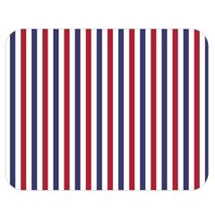 USA Flag Red White and Flag Blue Wide Stripes Double Sided Flano Blanket (Medium)