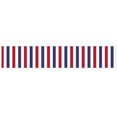USA Flag Red White and Flag Blue Wide Stripes Flano Scarf (Large)