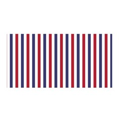 USA Flag Red White and Flag Blue Wide Stripes Satin Wrap