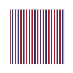 USA Flag Red White and Flag Blue Wide Stripes Small Satin Scarf (Square)