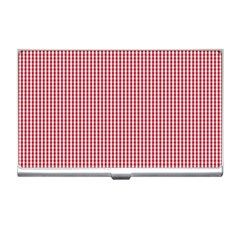 USA Flag Red and White Gingham Checked Business Card Holders