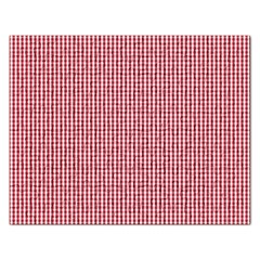 USA Flag Red and White Gingham Checked Rectangular Jigsaw Puzzl
