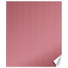 USA Flag Red and White Gingham Checked Canvas 8  x 10