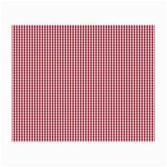 USA Flag Red and White Gingham Checked Small Glasses Cloth (2-Side)