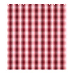 USA Flag Red and White Gingham Checked Shower Curtain 66  x 72  (Large)