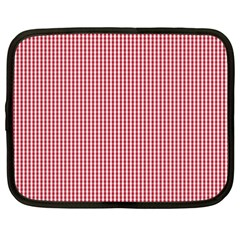 USA Flag Red and White Gingham Checked Netbook Case (XXL)