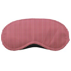 USA Flag Red and White Gingham Checked Sleeping Masks