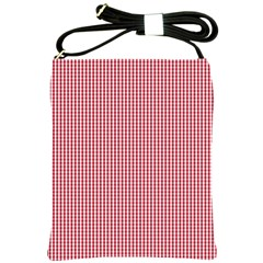 USA Flag Red and White Gingham Checked Shoulder Sling Bags