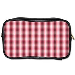 USA Flag Red and White Gingham Checked Toiletries Bags 2-Side