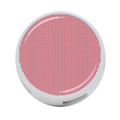 USA Flag Red and White Gingham Checked 4-Port USB Hub (One Side)