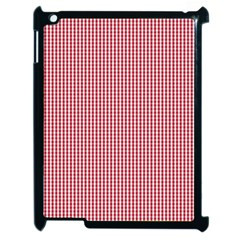 USA Flag Red and White Gingham Checked Apple iPad 2 Case (Black)