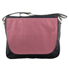USA Flag Red and White Gingham Checked Messenger Bags