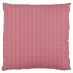 USA Flag Red and White Gingham Checked Large Cushion Case (Two Sides)