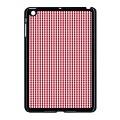 USA Flag Red and White Gingham Checked Apple iPad Mini Case (Black)