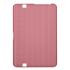 USA Flag Red and White Gingham Checked Kindle Fire HD 8.9