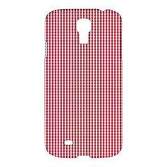 USA Flag Red and White Gingham Checked Samsung Galaxy S4 I9500/I9505 Hardshell Case