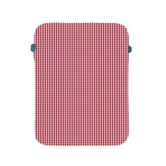 USA Flag Red and White Gingham Checked Apple iPad 2/3/4 Protective Soft Cases