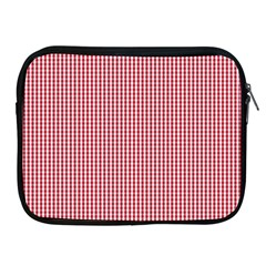 USA Flag Red and White Gingham Checked Apple iPad 2/3/4 Zipper Cases