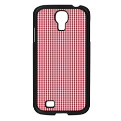 USA Flag Red and White Gingham Checked Samsung Galaxy S4 I9500/ I9505 Case (Black)