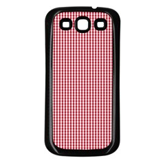 Usa Flag Red And White Gingham Checked Samsung Galaxy S3 Back Case (black)