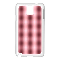 USA Flag Red and White Gingham Checked Samsung Galaxy Note 3 N9005 Case (White)