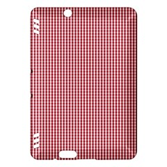 Usa Flag Red And White Gingham Checked Kindle Fire Hdx Hardshell Case