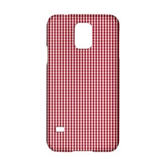 USA Flag Red and White Gingham Checked Samsung Galaxy S5 Hardshell Case