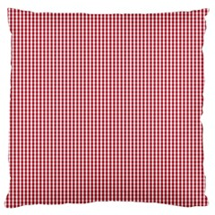 USA Flag Red and White Gingham Checked Large Flano Cushion Case (One Side)
