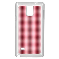 USA Flag Red and White Gingham Checked Samsung Galaxy Note 4 Case (White)