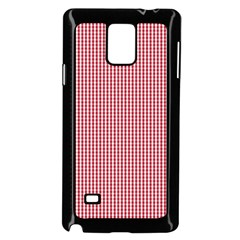 USA Flag Red and White Gingham Checked Samsung Galaxy Note 4 Case (Black)