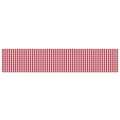 USA Flag Red and White Gingham Checked Flano Scarf (Small)
