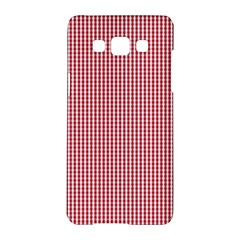 USA Flag Red and White Gingham Checked Samsung Galaxy A5 Hardshell Case