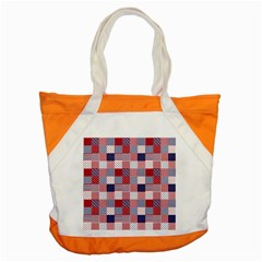 USA Americana Patchwork Red White & Blue Quilt Accent Tote Bag