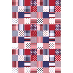 USA Americana Patchwork Red White & Blue Quilt 5.5  x 8.5  Notebooks