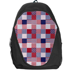 USA Americana Patchwork Red White & Blue Quilt Backpack Bag