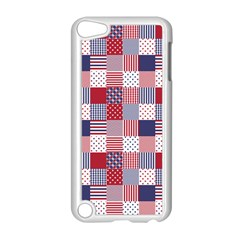 USA Americana Patchwork Red White & Blue Quilt Apple iPod Touch 5 Case (White)