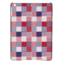 USA Americana Patchwork Red White & Blue Quilt iPad Air Hardshell Cases
