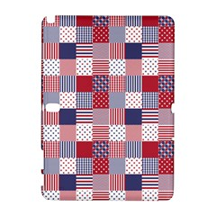 USA Americana Patchwork Red White & Blue Quilt Galaxy Note 1