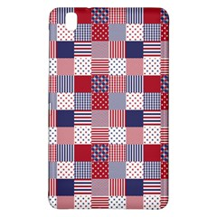 USA Americana Patchwork Red White & Blue Quilt Samsung Galaxy Tab Pro 8.4 Hardshell Case