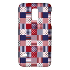 USA Americana Patchwork Red White & Blue Quilt Galaxy S5 Mini