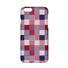 USA Americana Patchwork Red White & Blue Quilt Apple iPhone 6/6S Hardshell Case